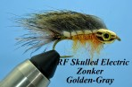 ARF Skulled Electric Zonker (set of 3 flies)